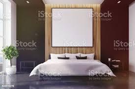 schwarz und aus holz schlafzimmer innenraum plakat getönt stockfoto und mehr bilder bett
