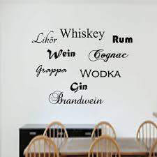 details zu wandtattoo wandaufkleber wandsticker bar esszimmer wein gin sprüche alkohol