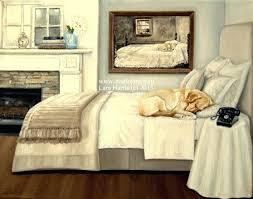 Andrew Wyeth Master Bedroom Dog On Bed Print Master Bedroom Original