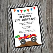 100 Monster Truck Party Ideas Birthday Invitations Awesome Birthday