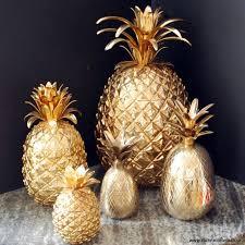Kitchen Outstanding Pineapple Decorations For Decor Target Full Gold Inspiring