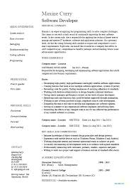 Sample Resume Software Developer This Is Application Development