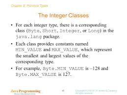 chapter 9 primitive types java programming from the beginning