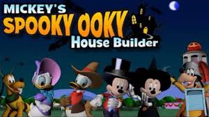 Mickey Mouse Halloween Coloring Pictures by Mickey Mouse Halloween Games Spooky Ooky House Builder Mickey
