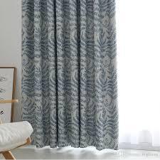 großhandel moderne blackout vorhang grün blau blätter hohe präzision gedruckt fenster vorhang für wohnzimmer schlafzimmer home weiß tüll bigmum