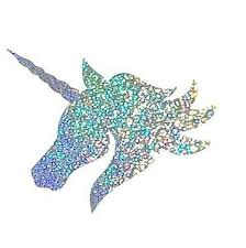 Image Is Loading Rainbow Glitter Unicorn Head Metallic Decal
