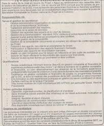 programme proeduc recrute 01 secrétaire comptable recrutement