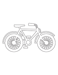 Bicycle Coloring Picture
