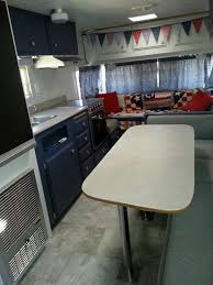 100 Restored Travel Trailer Renovated Interior Of A 1974 Terry Patriotic RV