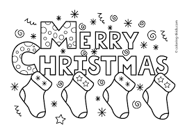 Christmas Coloring Pages To Print Free For Color With