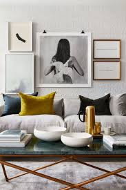 Decor Coffee Table Decoration And Sectional Sofa With Wall Art