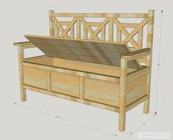 build a storage bench for deck bench decoration