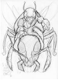 Ant Man Sketch V2 By Scarecrowhassan