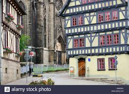 100 Paper Mill House Half Timbered Before Dear Church Of Our Lady Stock