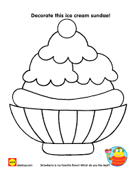 Create A Starman Craft Color An Ice Cream Sundae Or Search For Summer Words In