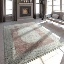 wohnzimmer teppich vintage fransen 3 d design