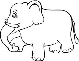 Happy Elephant Coloring Page