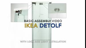 Detolf Glass Door Cabinet White by Ikea Detolf Basic Assembly By Fast Home Goods Youtube