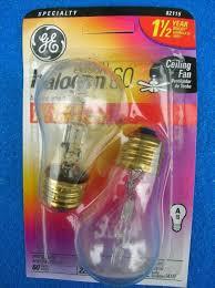 60 watt ge brand ceiling fan bulb cl 4 total bulbs e26 usa
