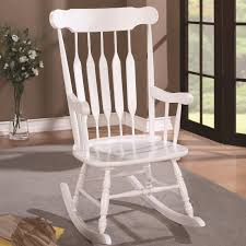 Coaster Rockers 600174 Wood Rocking Chair With White Finish And ... White Slat Back Kids Rocking Chair Dragonfly Nany Crafts W 59226 Fniture Warehouse One Rta Home Indoor Costway Classic Wooden Children Antique Bw Stock Photo Picture And Royalty Free Youth Wood Outdoor Patio Chair201swrta The Train Cover In High New Baby Together With Vintage Coral Coast Inoutdoor Mission Chairs Set Monkey 43 Stunning Pictures For Bradley Black Floors Doors Interior Design