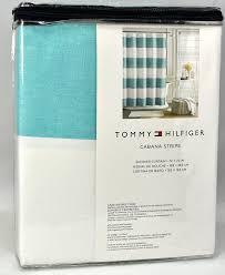 amazon com tommy hilfiger cotton shower curtain wide stripes