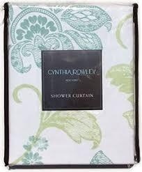 cynthia rowley galina fabric shower curtain floral blue green