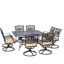 Threshold Patio Furniture Cushions by Hanover Traditions 9 Piece Aluminium Square Patio Dining Set With