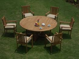 """7-Piece Outdoor Teak Dining Set: 72"""" Round Table, 6 Stacking Arm ... Danish Mondern Johannes Norgaard Teak Ding Chairs With Bold Tables And Singapore Sets Originals Table 4 Uldum Feb 17 2019 1960s 6 By Greaves Thomas Mcm Teak Table Niels Moller Chairs Etsy Mid Century By G Plan Round Ding Real 8 Seater Jamaica Set Temple Webster Nisha Fniture Sheesham Wooden Balcony Vintage Of 244003 Vidaxl Nine Piece Massive Chair On Retro"""