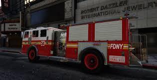 100 Gta 4 Fire Truck Mod FDNY Truck Engine 23 Red Wheels GTA5scom