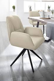 w schillig armlehnstuhl ole 2er oder 4er set mit metall drehkreuz mit rückholfunktion in schwarz pulverbeschichtet kaufen otto