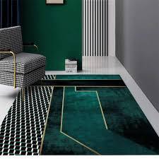 nordic luxus türkis farbe geometrische teppich grün