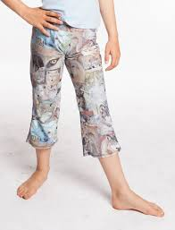 Workout Yoga Pants Wolf Face Collage Womens Flare