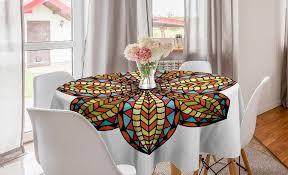 abakuhaus tischdecke kreis tischdecke abdeckung für esszimmer küche dekoration mandala bunte blumen kaufen otto