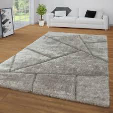 hochflor teppich grau anthrazit wohnzimmer schlafzimmer