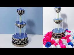 Diy Crafts How To Make A Waterfall Fountain Show Piece Using Wasted Newspaper