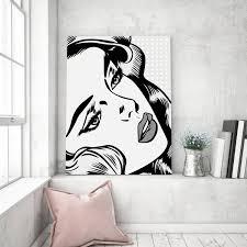 100 Pop Art Bedroom Blondy Black And White Theme Customizable Comic