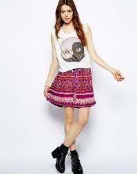 Short Boho Skirt Outfit