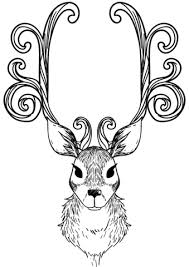Click To See Printable Version Of Christmas Reindeer Coloring Page