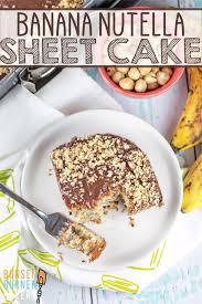 nutella bananenkuchen einfaches und gesundes rezept