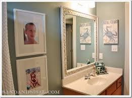 Beach Themed Bathroom Mirrors by My Boys U0027 Beach Themed Bathroom Sand And Sisal