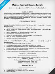 Medical Assistant Resume Sample Companion