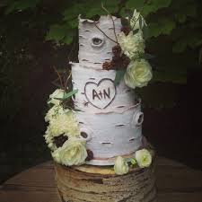 Aspen Tree Inspired Wedding Cake