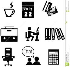 icone bureau ensemble matériel de collection d icône de bureau illustration de