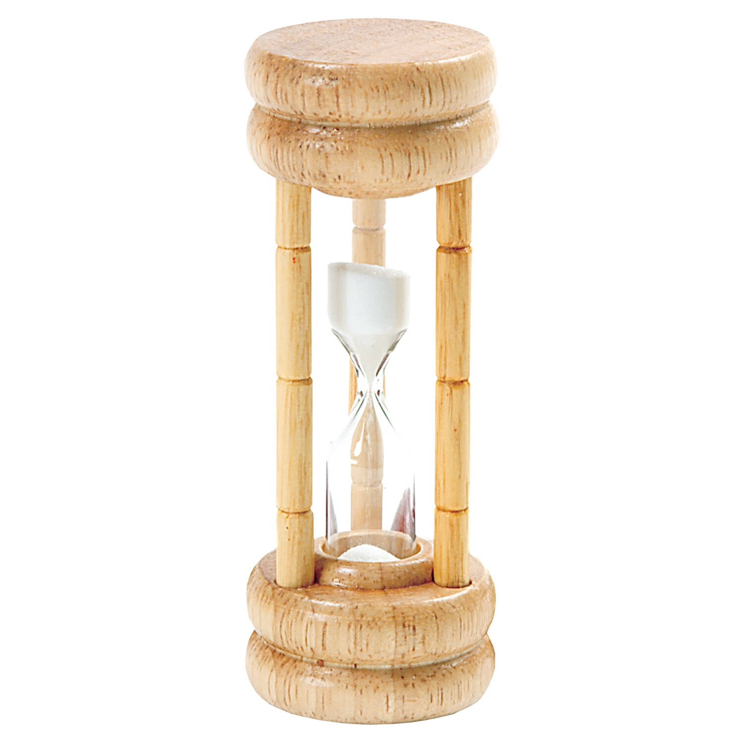 Norpro 3 Minute Hourglass Egg Game Timer Wood Base with Glass
