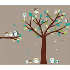 Tree Wall Decor With Pictures by Teal Owl Wall Decal With Tree Wall Decals For Girls Bedrooms
