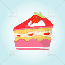 Piece of strawberry cheesecake royalty free vector vector image
