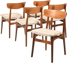 Set Of 5 Danish Vintage Dining Chairs In Teak, 1960s - Design Market Benny Linden Mid Century Danish Teak Ding Table Party Modrest Oritz Midcentury Modern Walnut Baxton Studio Wyatt Wood Crowne Chair Contemporary Transitional Armchairs Club Chairs Dering Hall Design Attractor In Minimalist Nordic Apartment Saarinen Tulip Oval Designer Fniture Heals Fredericia The Spanish Chair Cognac Leather 120 Budget Picks For An Affordable But Stylish Midcentury Featured Rooms Inspiration Top 10 Upholstered Set Of 4 Teak Ding Chairs 1960s Design Market