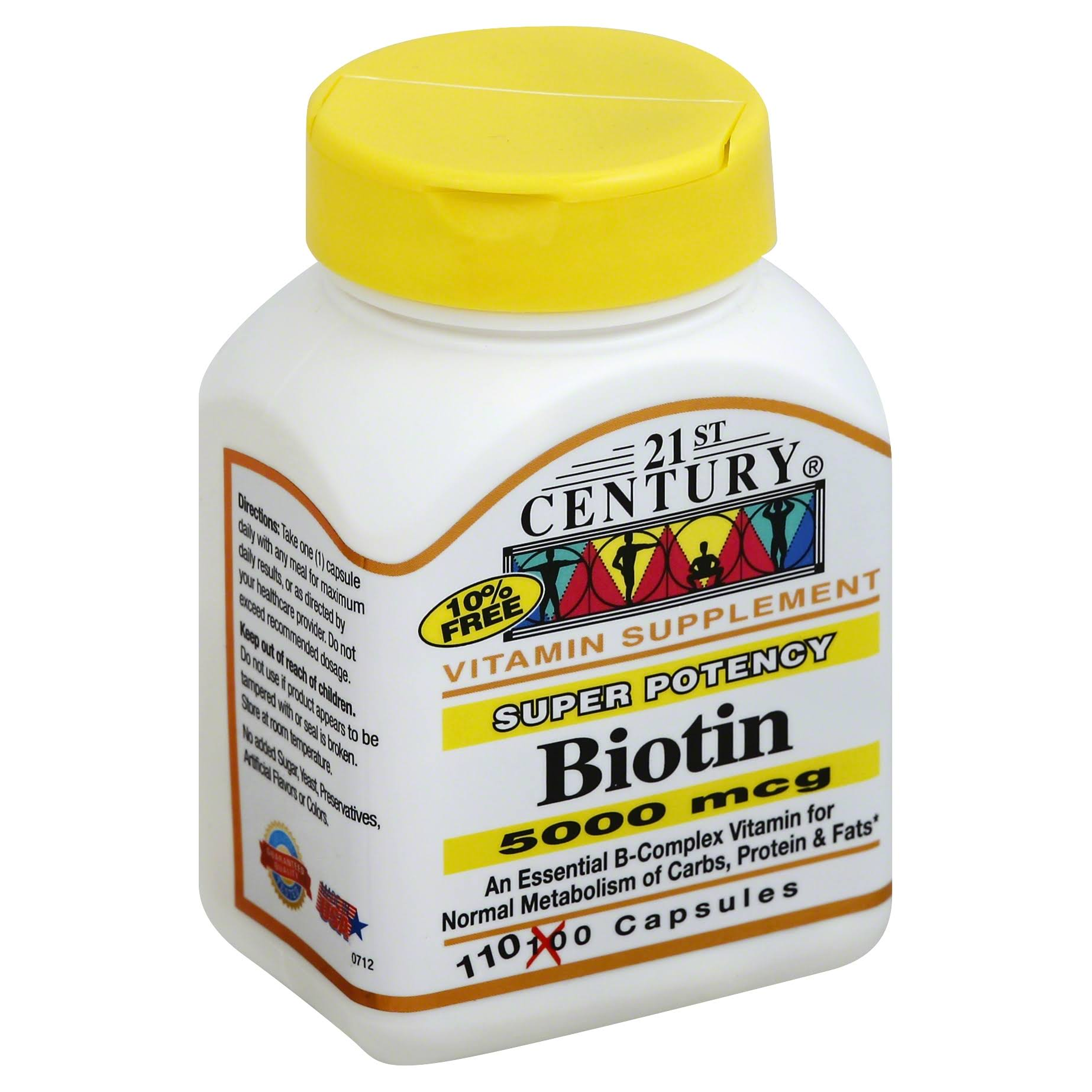 21st Century Biotin Vitamin Supplement - 5000mcg, 110ct