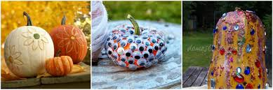Ways To Carve A Pumpkin Fun by Easy Ways To Decorate Pumpkins Without Carving Simplify Live Love