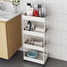 küchenwagen servierwagen rollwagen 4 etagen abs wagen für küche bad weiß
